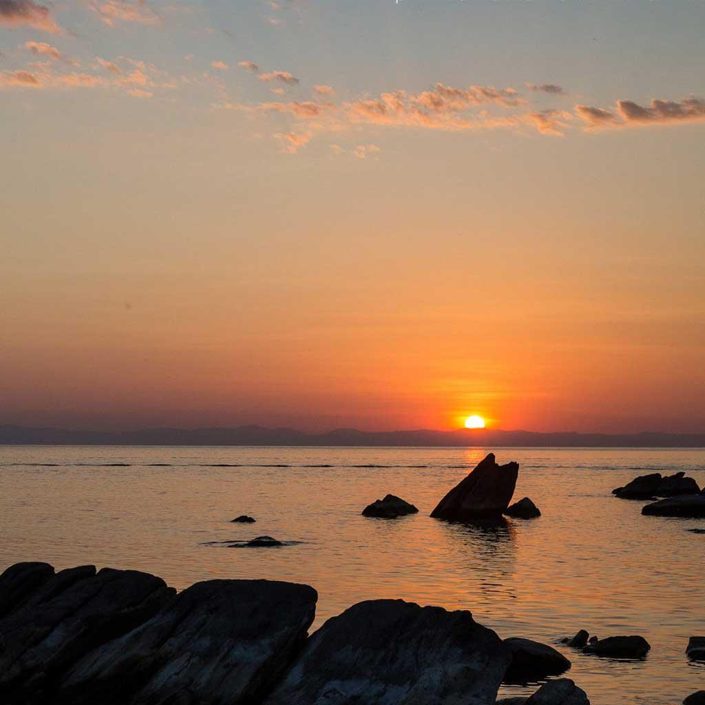 sunset lake malawi nkhata bay